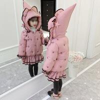 №【2019新款】冬天儿童穿的女童棉衣韩版女孩冬装洋气中长款加厚棉袄儿童羽绒潮