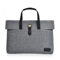 潮帆布包手提电脑包男女士商务手提包公文包