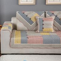 沙发垫全棉布艺防滑坐垫田园简约现代沙发巾四季通用纯棉沙发套罩