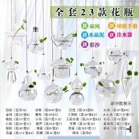 0718151852575悬挂玻璃花瓶小吊瓶植物创意水培容器透明绿萝吊兰风信子家居装饰