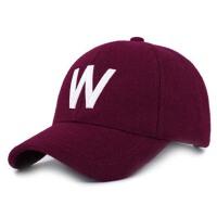 冬季毛呢棒球帽 男士帽子 冬天保暖鸭舌帽 女青年休闲棉帽