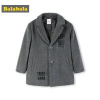 巴拉巴拉童装儿童呢子大衣男童秋冬新款宝宝保暖毛呢外套羊毛