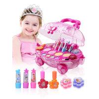 迪士尼儿童无毒化妆品 过家家公主彩妆盒套装女孩口红玩具生日礼物