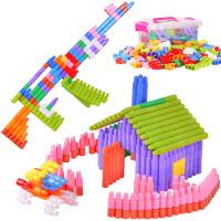 大号头积木塑料拼插幼儿园早教男孩女儿童玩具3-6周岁4-7