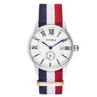 男士防水石英表个性时尚尼龙带手表男表简约休闲潮流腕表