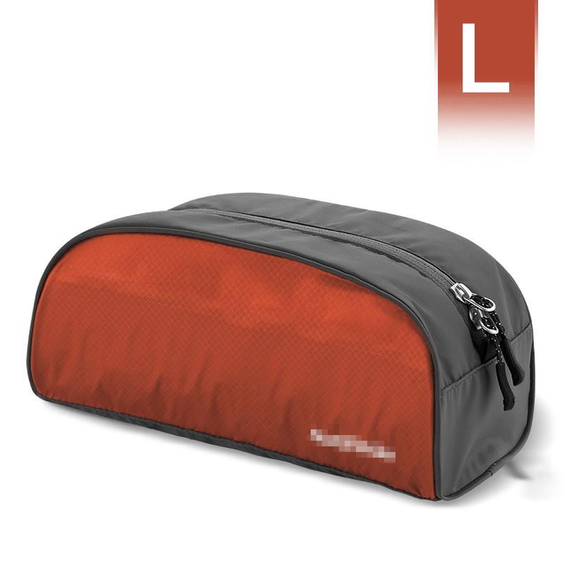 旅行洗漱包 男士 户外用品旅游收纳袋 便携 出差 防水女化妆包 深红色-大号