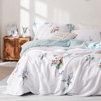 春夏兰精天丝四件套丝滑冰凉爽双面天丝被套床单床上用品1.8m裸睡上新