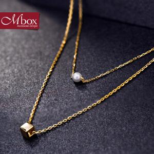 新年礼物Mbox项链 女款韩国版采用S925银时尚多层choker锁骨项链 为你钟情