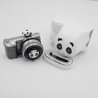 熊猫可爱微单相机包相机套皮套索尼a6000 a5100 a5000 a6300