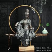 陶瓷装饰品摆件 观音菩萨佛像三圣禅意佛中式玄关镇宅家居摆设