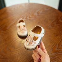 女儿童单鞋2019春新款韩版花朵公主皮鞋宝宝婴儿软底鞋1-3岁