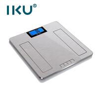 IKU 智能电子体重秤 家用健身器材电子称 体重称 脂肪测量仪 瑜伽配件 精准电池人体电子秤BF811