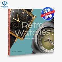 英文原版 Retro Watches 复古手表 现代收藏家指南艺术书 精装 手表模型设计展示画册 深入探索手表设计文化与