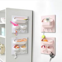 无痕贴粘贴挂钩收纳架 卫浴墙上塑料置物架 厨房收纳盒