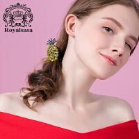 皇家莎莎菠萝发圈发绳头绳韩国小清新皮筋头饰发饰扎马尾发夹头花