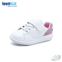 天美意teenmix童鞋18新款笑脸小白鞋儿童运动鞋女童户外休闲鞋中童板鞋 (5-12岁可选) DX0411