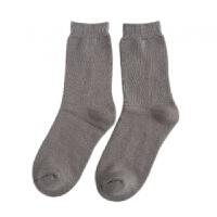 袜子男冬季加厚保暖袜 毛圈袜简约商务男袜中筒袜纯色袜高端袜 均码