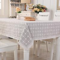 桌布布艺棉麻小清新正方形餐桌布北欧现代简约欧式茶几台布长方形 圆形180cm 带花边