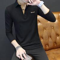 2018夏装男装纯棉短袖男T恤青年衬衫领纯色薄款POLO衫潮流男上衣