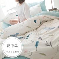 床上四件套纯棉特价秋冬季被套三件套单双人1.5/1.8m床单床笠
