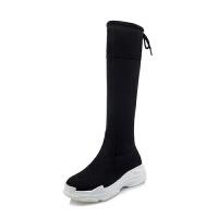 中大童弹力靴过膝长靴韩版2018冬季女童高筒靴保暖女童靴子童鞋女