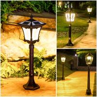 太阳能庭院灯 欧式花园灯户外防水草坪灯草地灯家用超亮太阳能灯