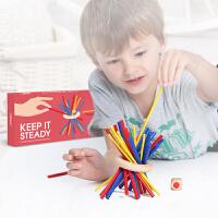 ��鹿(mideer) �和�玩具搭木棍�和�桌面游��和��e木游�蚰竟鞣e木早教玩具益智桌游平衡能力���