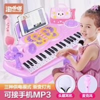 儿童电子琴女孩初学者入门可弹奏音乐玩具宝宝多功能小钢琴3-6岁