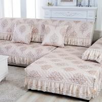 欧式沙发垫三件套 简约现代布艺防滑沙发垫 四季通用