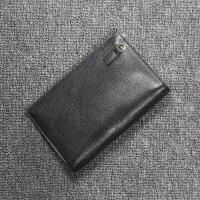 软皮真皮 时尚休闲手包手拿包手抓包男式男士款包商务休闲包 黑色