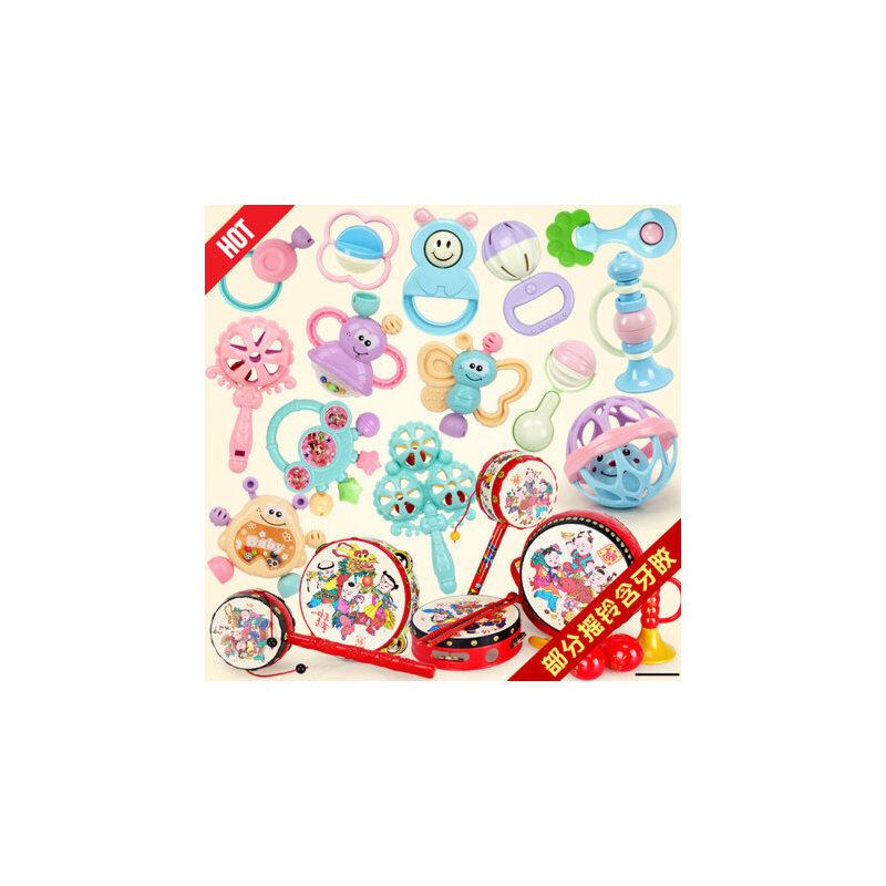 婴儿玩具0-1岁幼儿牙胶摇铃 3-6-12个月新生儿宝宝手摇铃牙胶玩具 进店抽大奖,3C认证请放心购买