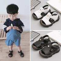 宝宝鞋子男童1-3岁婴儿童夏季防滑软底包头凉鞋0-2小童学步鞋女童