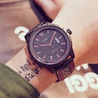 艾奇皮带时尚手表男学生韩版简约防水石英表3060
