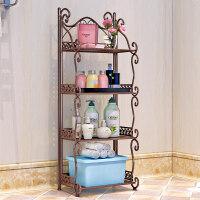 铁艺浴室置物架 落地卫生间脸盆架 洗手间厨房收纳储物层架5tc