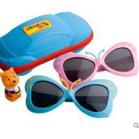 时尚卡通眼镜户外小孩偏光镜可爱墨镜3-8岁硅胶男女童蝴蝶款儿童太阳镜