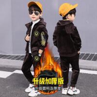 男童装秋冬装金丝绒套装2018新款冬季儿童加绒洋气两件套韩版潮衣