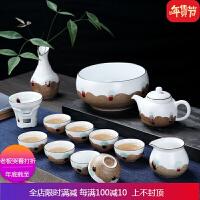 茶具套装家用简约景德镇陶瓷功夫茶杯茶壶办公室礼盒装送人 自店营年货