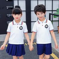 新款幼儿园园服夏季短袖英伦运动服套装儿童班服中小学生校服夏装
