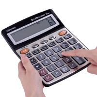 真人语音计算器12位大号办公水晶大按键大屏计算机财务