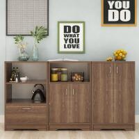【一件3折】餐边柜简易橱柜多功能备餐柜厨房置物柜简约茶水柜自由组合玄关柜