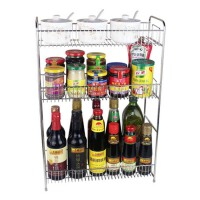 304不锈钢壁挂收纳架子    酱油作料调味料架  2层3层厨房置物架