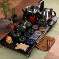 功夫茶具整套装陶瓷茶杯茶壶茶道配件电磁炉茶具套装办公室家用