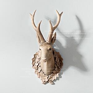 奇居良品 美式家居饰品树脂墙面壁挂 蒙蒂复古鹿首壁饰