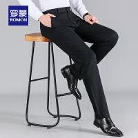 �_蒙(ROMON)男士休�e�2020秋季商�章��I工�b�L�中青年直筒百搭��力西�