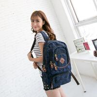 吉野帆布包新款女包包韩版印花帆布背包潮女士双肩包学生书包休闲旅行背包电脑包3992
