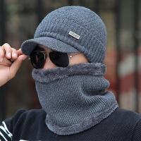 帽子男冬季保暖帽毛线帽子冬天男士套头针织帽护耳东北户外潮