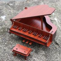 ?家居房间装饰摆件创意木质模型钢琴迷你乐器送女孩男孩生日礼物