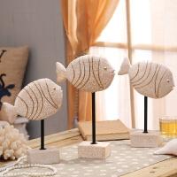 欧式客厅家居装饰品摆件酒柜创意鱼电视柜摆设家装房间软装工艺品