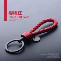 编织汽车钥匙扣男女汽车钥匙挂件钥匙链定制刻字情侣韩国可爱bv6