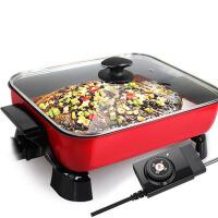 韩式家用电炒锅不粘锅电锅电煎锅电热锅电火锅锅 红色